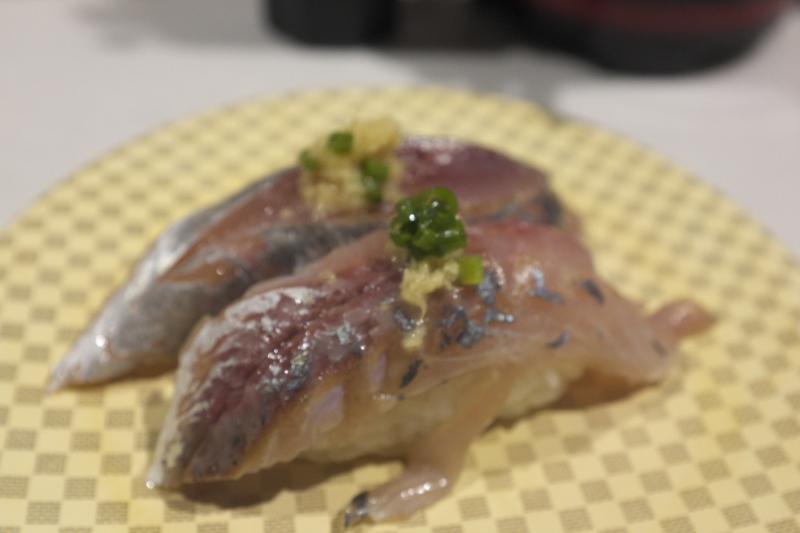 寿司虎のアジ