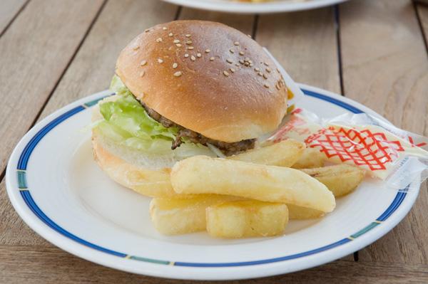 飛鳥Ⅱのハンバーガー