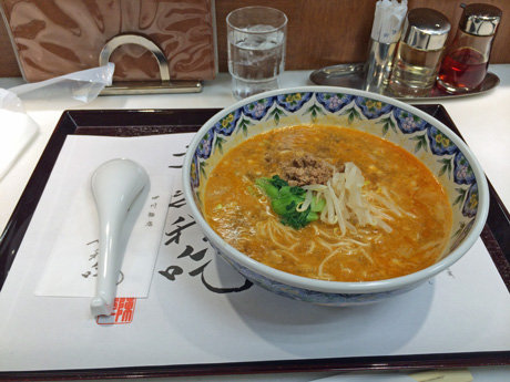 赤坂 四川飯店博多店の担担麺